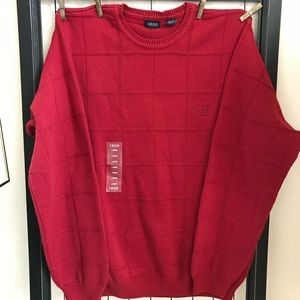IZOD Cotton Knit Men's NWT Pull Over Sweater Sz L